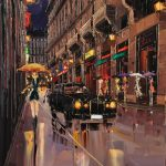 paris travel art illustrations painting