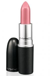MAC Matte Lipstick 'Please Me' soft pink lipsticks on pumpernickel pixie