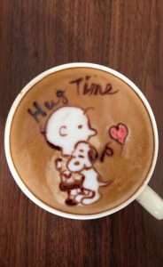 latte art coffee art pumpernickel pixie