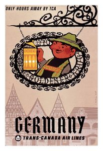 vintage retro travel posters postcards pumpernickel pixie