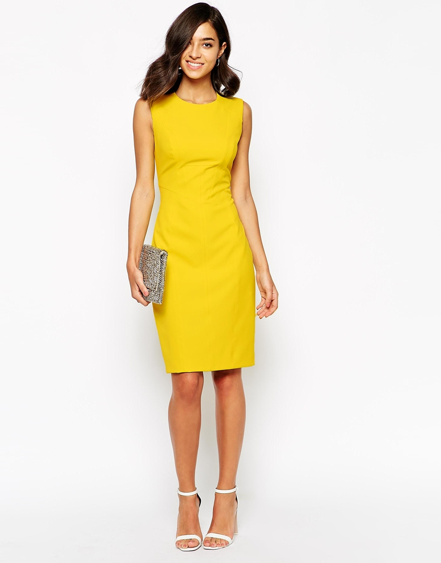 spring fashion trends 2015 on pumpernickel pixie yellow bodycon dress asos