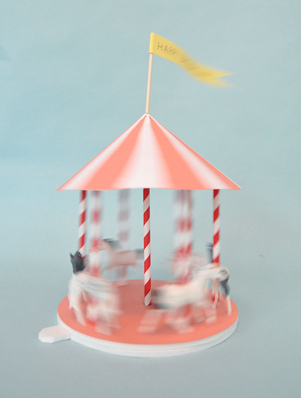 carousel, spinning carousel, centerpiece, kids, party, diy, art, craft, fun, whimsical, pumpernickel pixie