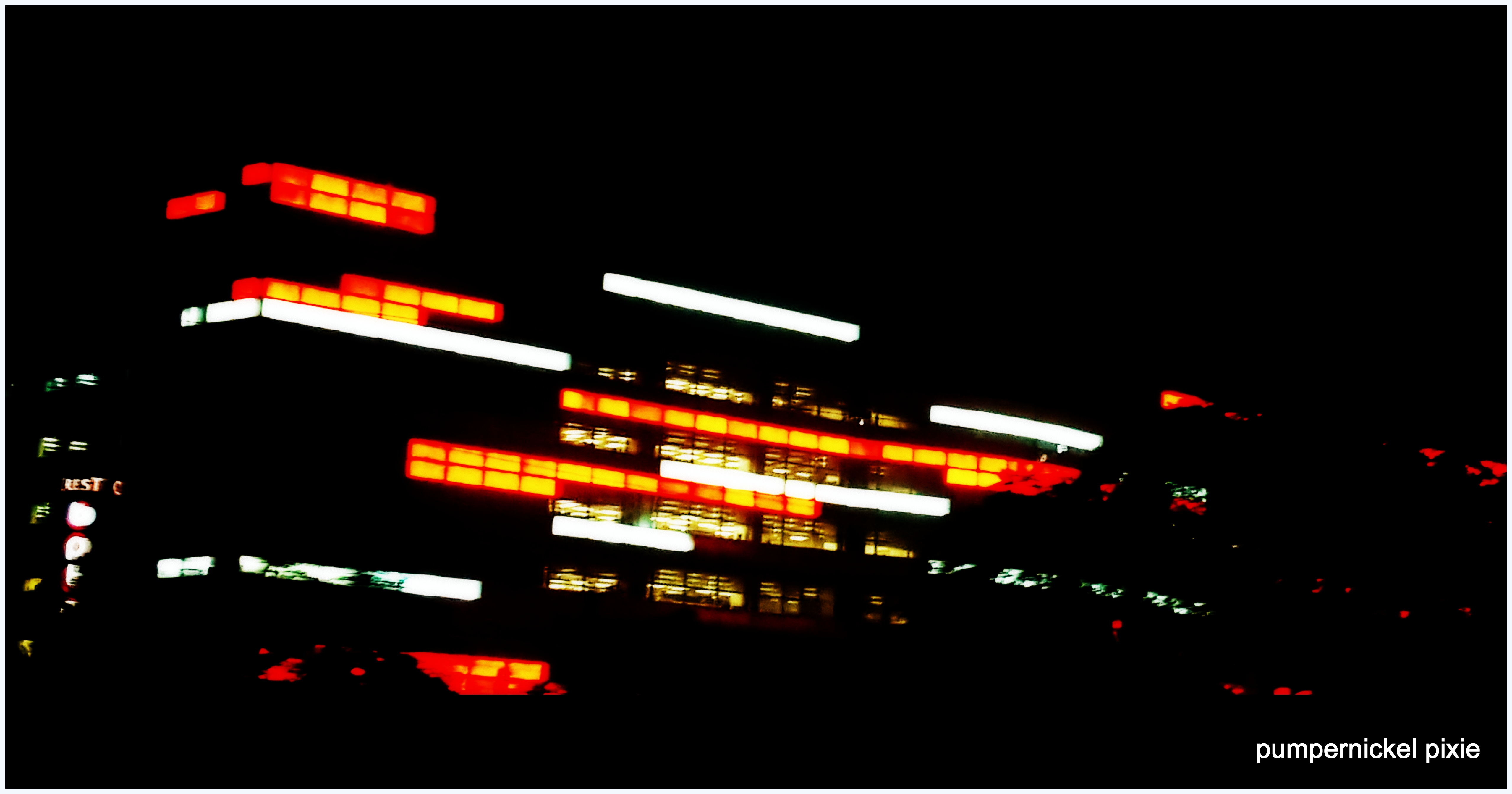 night lights, city lights, night photography, airtel gurgaon, building at night, a photo a week, photography, pumpernickel pixie