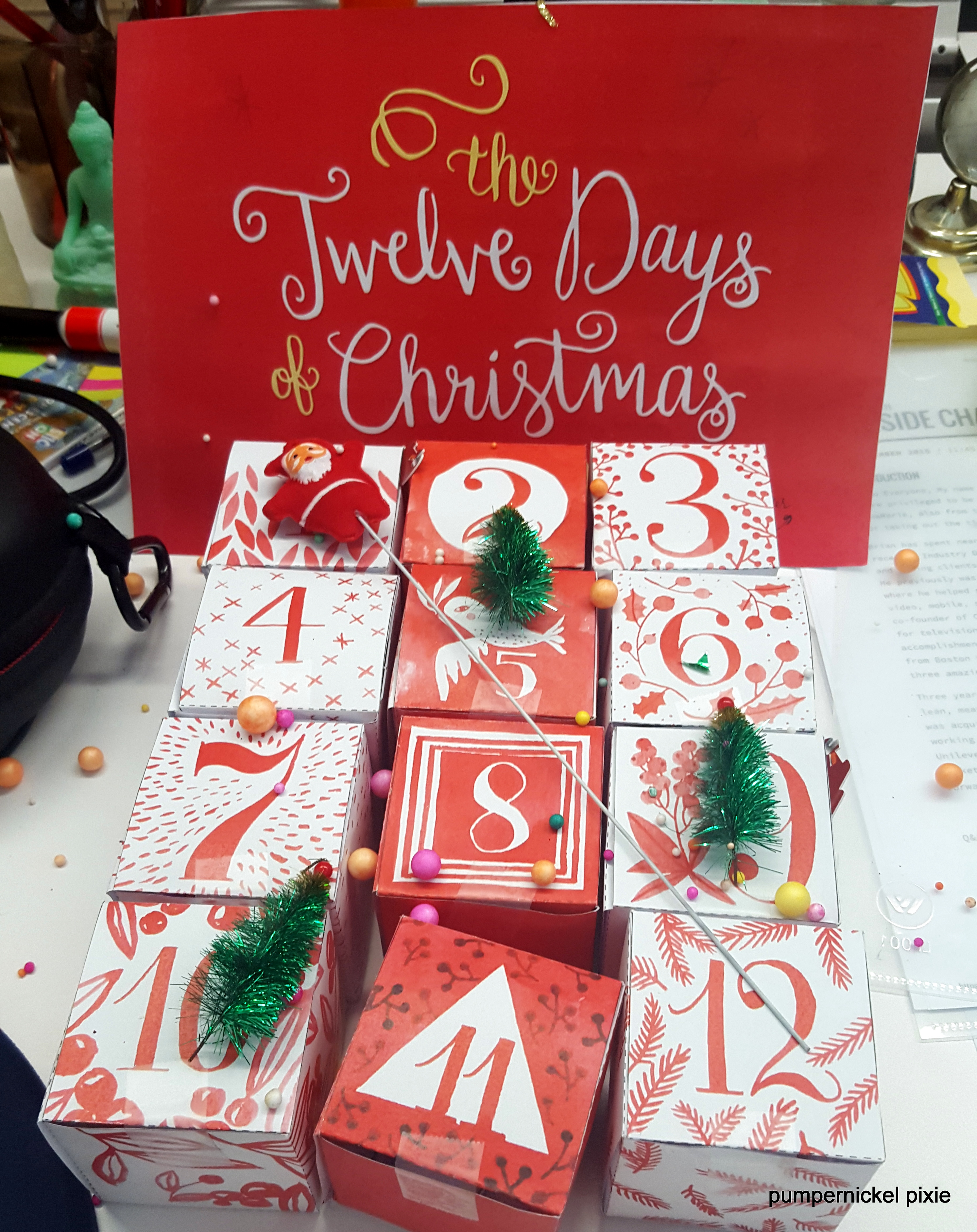 christmas, christmas 2015, #christmas, #christmas 2015, secret santa, secret santa office, secret santa gift, secret santa diy, secret santa fun, 3d car puzzle, frank sinatra vinyl, advent calendar diy, watercolor advent calendar, secret santa for colleagues, secret santa christmas, creative diy, fun diy, christmas diy, puzzle diy, secret santa puzzle, pumpernickel pixie