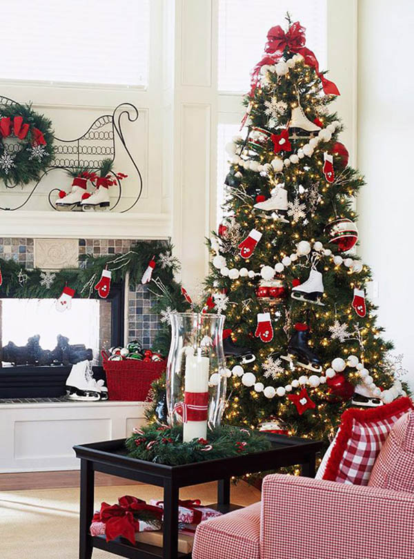 red white christmas tree christmas tree decor christmas tree themes christmas tree ideas whimsical - White Christmas Tree With Red Decorations