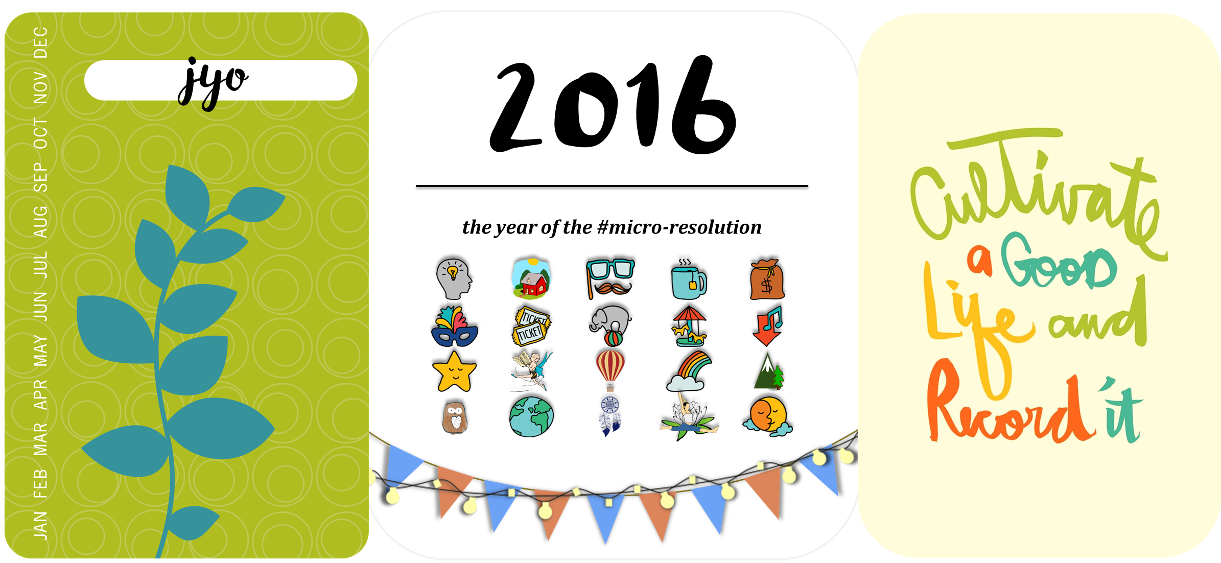 micro resolution, microresolution, resolution, resolution 2016, micro resolution 2016, 2016, goals, intentions, new year resolutions, habits, goal setting, project life, mindfulness, jyo, pumpernickel pixie