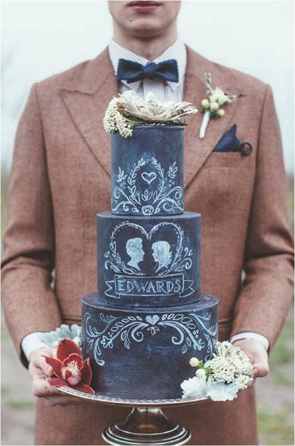 chalkboard cake 2015 wedding cake trends