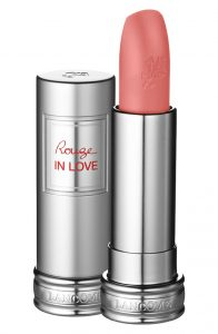 Lancôme Rouge in Love Lipstick 'Tinted Rose' soft pink lipsticks on pumpernickel pixie