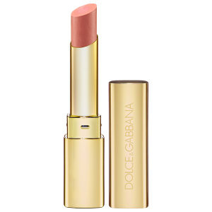 Dolce & Gabbana Passion Duo Gloss Fusion Lipstick 'Darling 10 Sheer Peachy Pink soft pink lipsticks on pumpernickel pixie