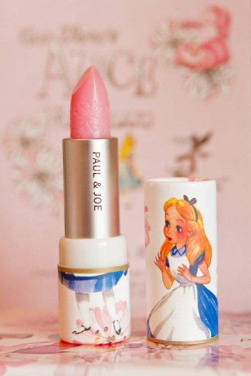 Paul & Joe Limited Edition 'Alice In Wonderland' Collection soft pink lipsticks on pumpernickel pixie