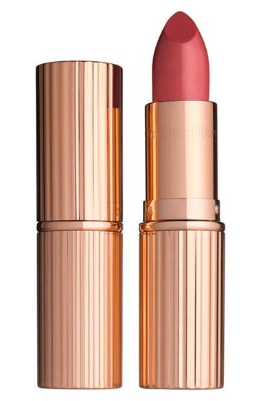 Charlotte Tilbury 'K.I.S.S.I.N.G' Lipstick soft pink lipsticks on pumpernickel pixie