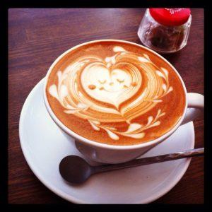 latte art coffee art pumpernickel pixie