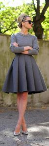 vintage retro full midi a line skirts pumpernickel pixie