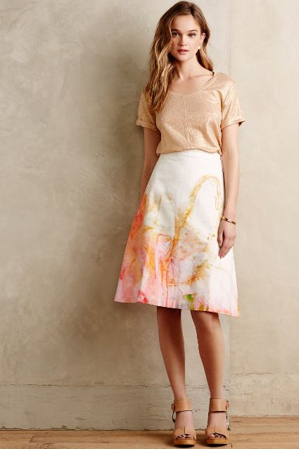 spring fashion trends 2015 on pumpernickel pixie printed abstract a line skirt anthropologie