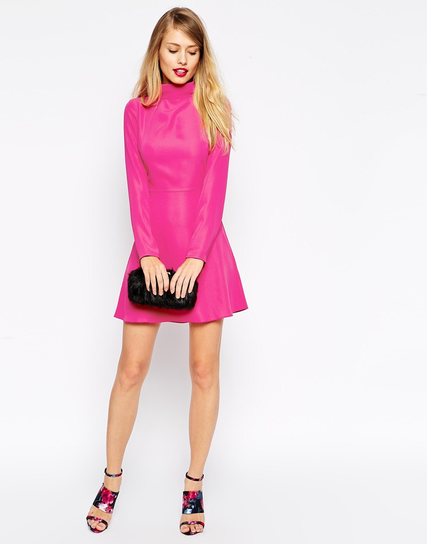 spring fashion trends 2015 on pumpernickel pixie pink turtle neck dress