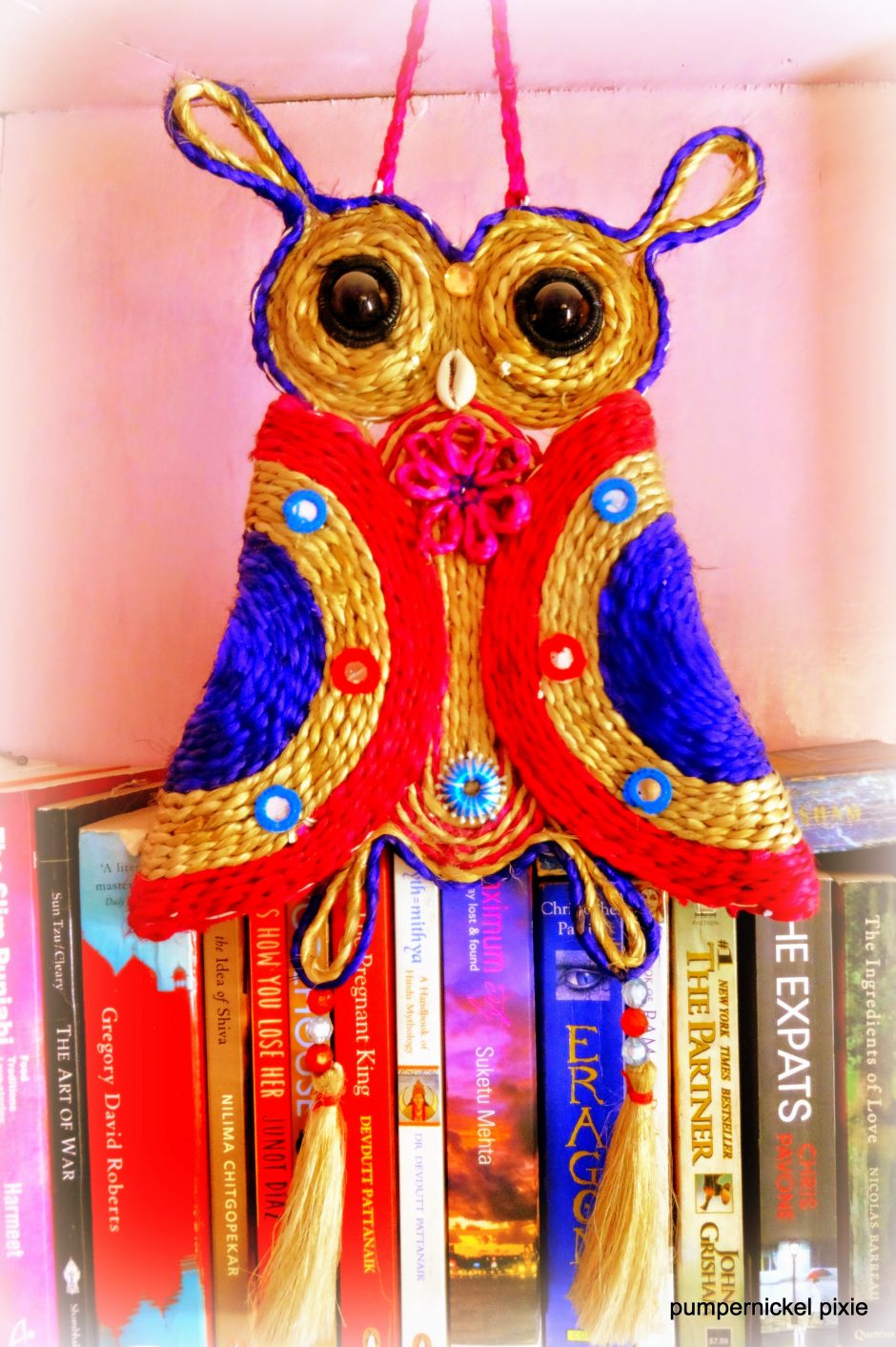 books library reading jute owl wise owl one week one photo on pumpernickel pixie