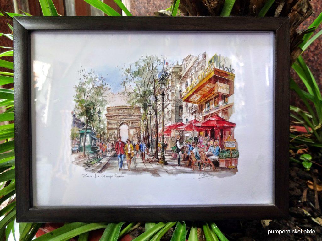 champs elysees france paris street art painting pumpernickel pixie
