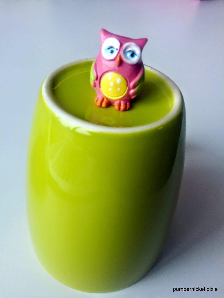 miniature owl figurine pumpernickel pixie