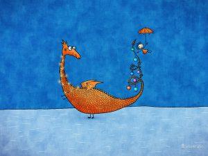 vlad studio vladstudio art design digital desktop wallpaper mobile wallpaper whimsical enchanting magical happy bright colorful mysterious alice in wonderland on pumpernickel pixie