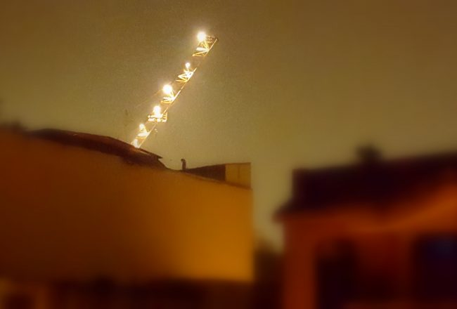 stairway to heaven, city lights, night, buildings, crane, photography, a photo a week, pumpernickel pixie