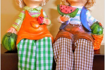watermelon, figurines, dolls, farm, people, summer, cute, fresh, fruits, showpiece, a photo a week, photography, pumpernickel pixie