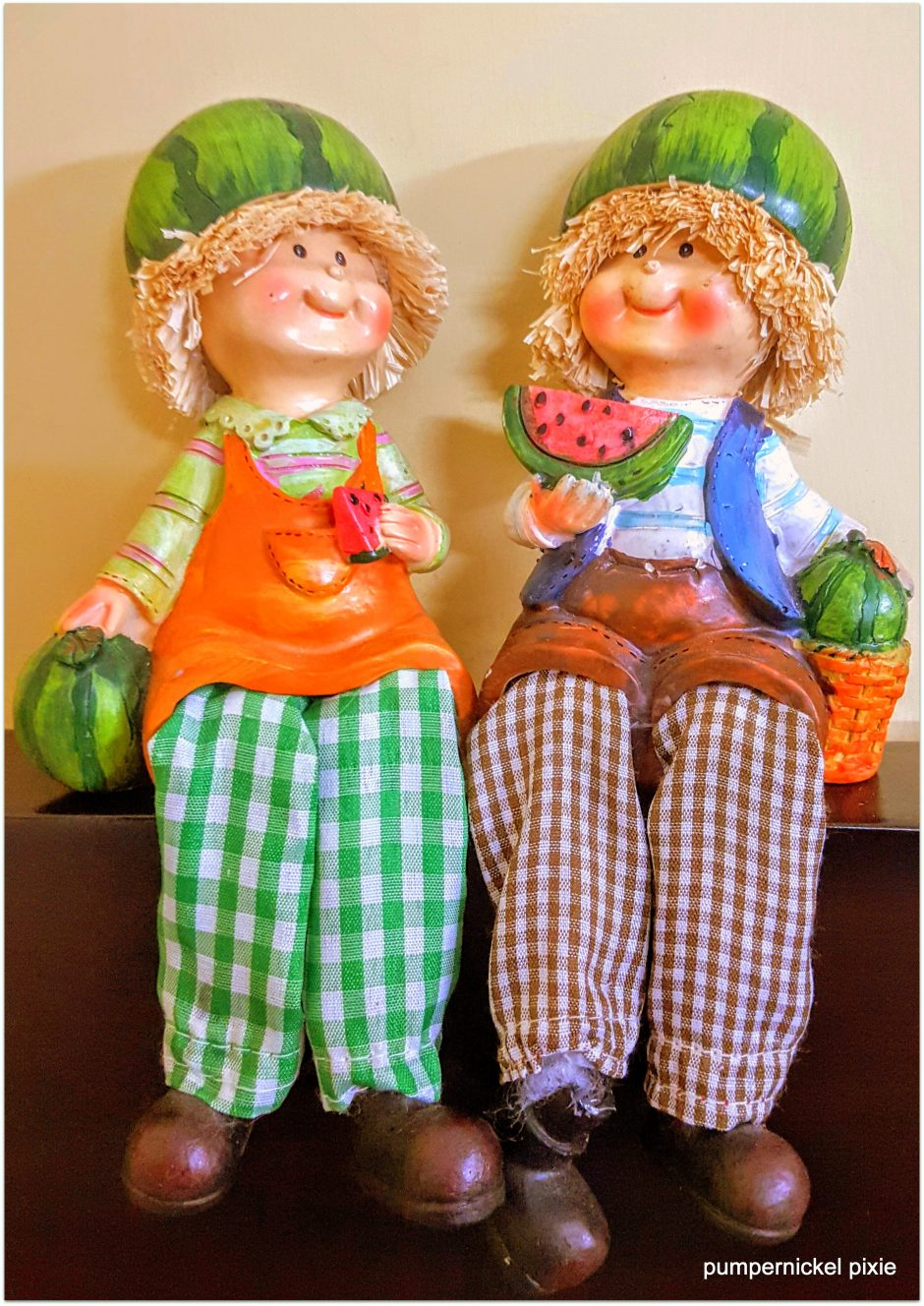 watermelon, figurines, dolls, farm, people, summer, cute, fresh, fruits, showpiece, a photo a week, photography, pumpernickel pixie
