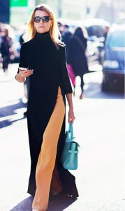would you wear a dress over your pants, dress over pants, dress, pants, sarah jessica parker, sjp, spring 2015, fall 2015, fashion, style, trends, runway, layered, mix and match, dressing, wearable fashion, celebrity trends, 2015 fashion trends, vogue, pumpernickel pixie