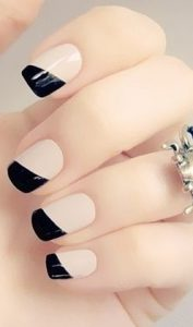 french manicure, fall french manicure, autumn french manicure, winter french manicure, fall nail trends, winter nail trends, fall nails 2015, winter nails 2015, glamorous french manicure, reverse french manicure, red french manicure, black french manicure, gold french manicure, french mani, festive french manicure, metallic french manicure, matte french manicure, glitter french manicure, pumpernickel pixie