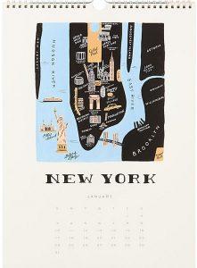 travel calendars, travel calendar 2016, travel, calendar, calendar 2016, print calendar, desk calendar, illustrated calendar, cities calendar, vintage calendar, world traveler calendar, calendar art, calendar illustration, 2016, pumpernickel pixie