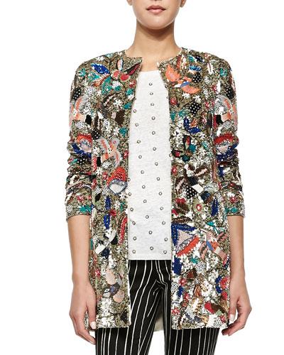 statement jacket, embellished jacket, beaded jacket, sequin jacket, party jacket, lace jacket, couture jacket, jackets, coats, new years party, party wear, pumpernickel pixie