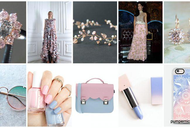 pantone color of the year, pantone colors for 2016, rose quartz and serenity, rose quartz serenity mood board, fashion mood board, rose quartz serenity palette, pink and blue, #rosequartz, #serenity, #colorsoftheyear, #pantone, pumpernickel pixie