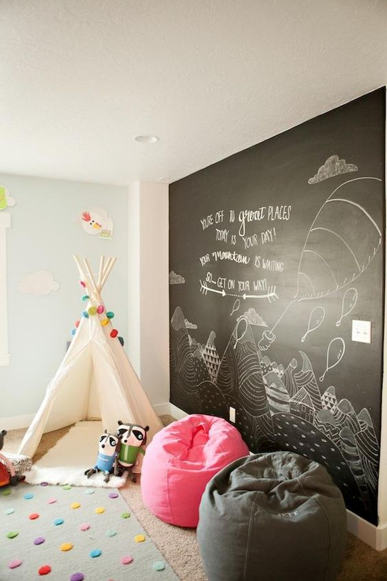 interior decoration, interior decor, decor ideas, room ideas, work space ideas, creative room, creative work space, creative decor, interior design, creative interiors, bright room, colorful room, room re decoration, creative decoration, room inspiration, work space inspiration, floating desk, chalkboard wall, chalkboard room, bright wall, yellow wall, storage cabinet, storage solutions, multi purpose cabinet, curtains, chair, rug, cushions, fur rug, fur cushion, yellow pink blue color scheme, room accessories, jyo, pumpernickel pixie
